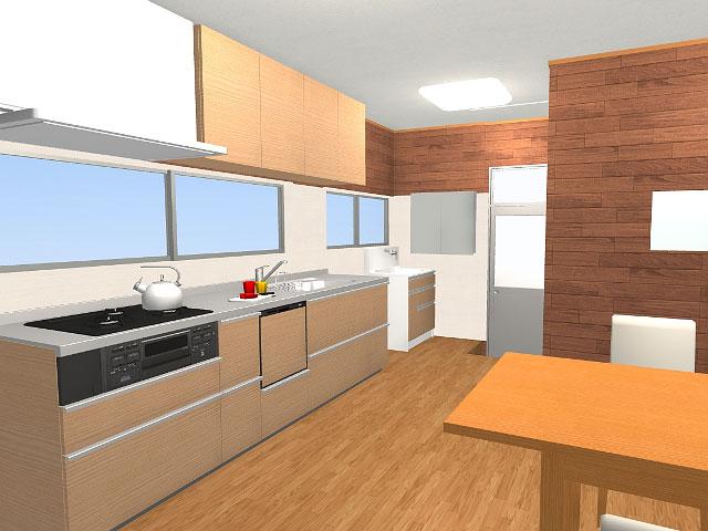 キッチンのリフォーム3Dパース3