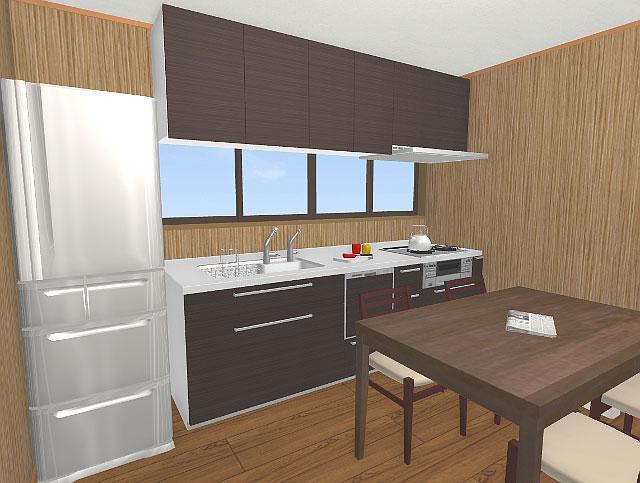 キッチンのリフォーム3Dパース