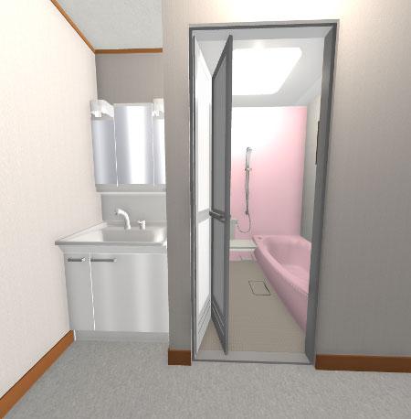 浴室・洗面所のリフォーム3Dパース