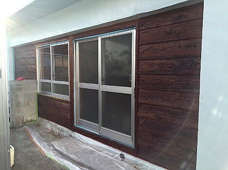 嘉手納町:防音建具復旧工事