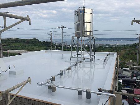 西原町★屋上防水遮熱工事