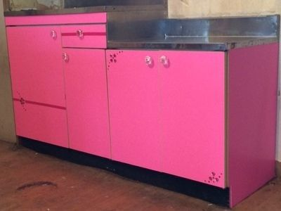 【リフォーム】 乙女のピンク色★キッチン