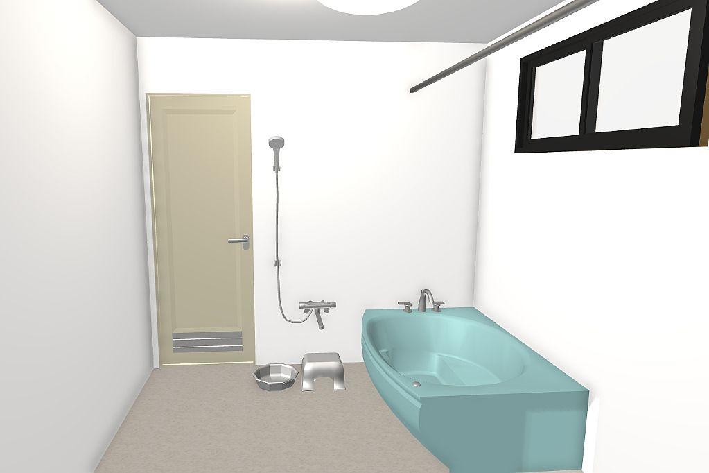 浦添市★浴室リフォーム(3Dパース提案)