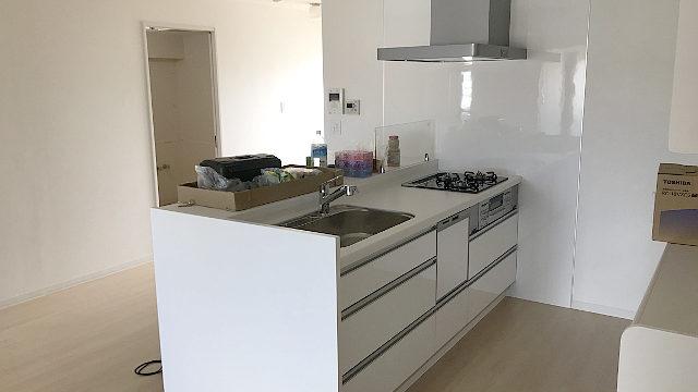 改修後 対面キッチン